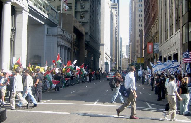 Protest at the Israeli Consulate in San Francisco, July 13, 2006