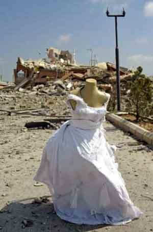 wedding dress rubble