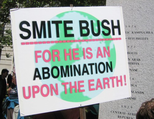 today to refer to Against Bush at Protests Ignored for