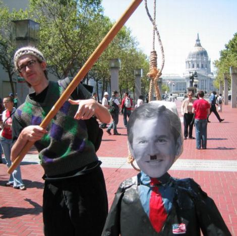 120 Threats Against Bush At Protests