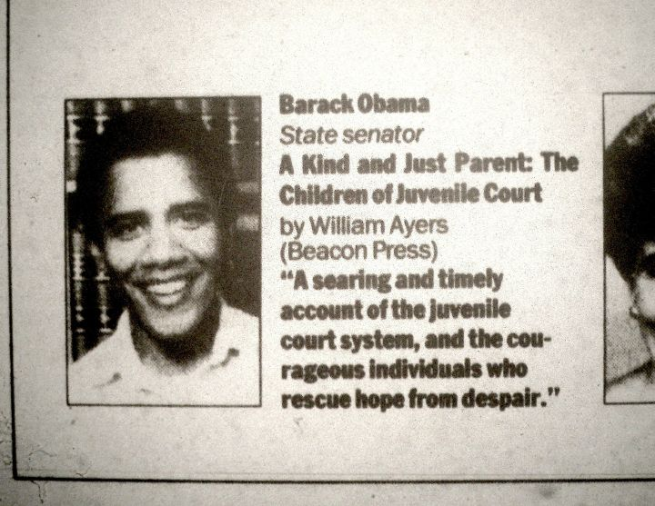 Barack Obama Writes a Review of Ayers Book...Just a Guy He Knew.
