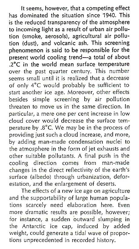 "John Holdren in 1971: ""New Ice Age"" Likely Global Ec 76 7 quote"