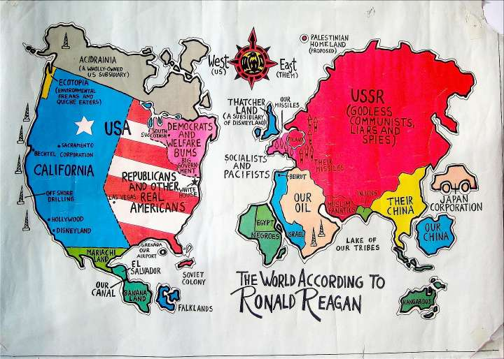 The world according to ronald reagan analysis of a 1980s the world according to ronald reagan analysis of a 1980s political poster as seen through modern eyes zomblog gumiabroncs Images