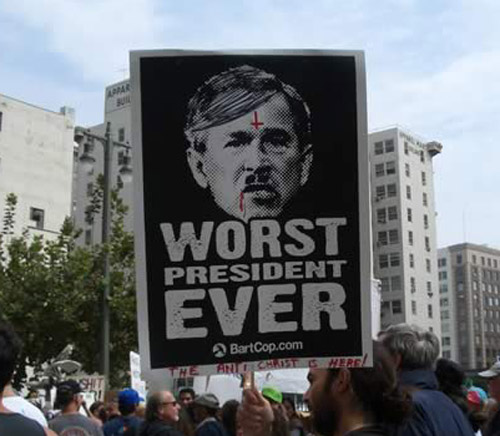 Bush Hitler picture